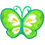 Thermocollant papillon vert 4,5 x 6 cm - 408