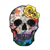 Thermocollant tête de mort de couleur 11 x 8cm - 408
