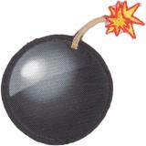Thermo et autocollant bombe 3,8 cm - 408