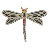 Thermocollant libellule argentée 7x5,5cm - 408