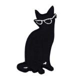 Thermocollant chat lunettes hauteur 7,5 cm - 408