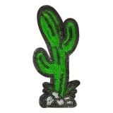 Thermocollant cactus strass 11,5 x 4,5 cm - 408