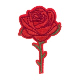 Thermocollant rose rouge 7,5 x 4,5 cm - 408