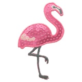 Thermocollant flamant rose 7,5x4,5cm - 408