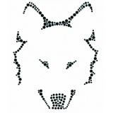 Loup strass noir - 408