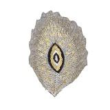 Thermocollant plume de paon 10,5x6,5cm - 408