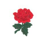 Motif à coudre rose 9 x 6,5 cm - 408