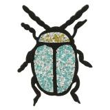 Thermocollant scarabé strass 9,5x7cm - 408