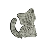 Broche chat strass - 408