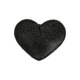 Broches coeur strass noir - 408