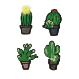 Lot de 4 cactus thermocollants - 408