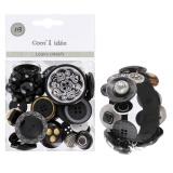 Kit bracelet de Bouton noirs - 408