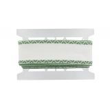 Bande aida 80mm blanc/vert - 420