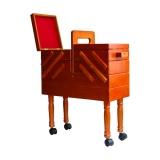 Boîte travailleuse en bois