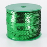 Galon paillette 6mm 100 yards (91m40) vert - 437