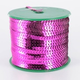 Galon paillette 6mm 100 yards (91m40) fuchsia - 437