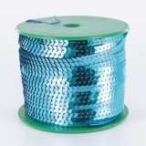 Galon paillette 6mm 100 yards (91m40) turquoise - 437