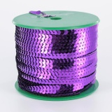 Galon paillette 6mm 100 yards (91m40) violet - 437