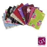 12 coupons assortis Quilter's Treasure 45 x 55cm