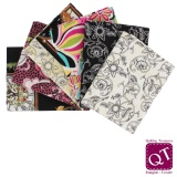 6 coupons assortis Quilting Treasure 45 x 55cm