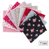 10 coupons assortis Tilda 45 x 70 cm