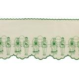 Bande danseur basque 19cm vert