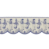 Bande danseur breton 12cm bleu