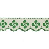 Bande croix basque 12cm vert