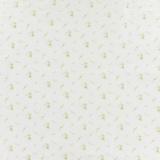 Tissu double gaze blanc fleurs or - 44