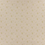 Tissu double gaze nude fleurs or - 44