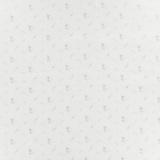 Tissu double gaze blanc fleurs argent - 44