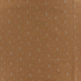 Tissu double gaze camel fleurs argent - 44