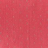 Tissu double gaze coquelicot fleurs argent - 44