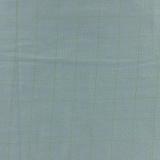 Tissu double gaze vert de gris carreaux or - 44