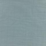 Tissu double gaze vert de gris carreaux argent - 44