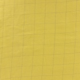 Tissu double gaze banane carreaux argent - 44