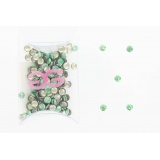 Cristal nailheads round 4 mm holo l.vert (zy180) - 452