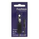 Tirette zip noire - 452