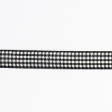 Ruban vichy n°2 10mm noir