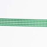 Ruban vichy n°2 10mm vert