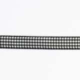 Ruban vichy n°3 15mm noir