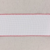 Bande aïda blanc bordée rouge
