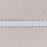 Bande aïda blanc bordée bleu