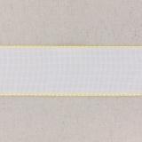Bande aïda blanc bordée jaune