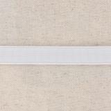 Élastique cotelé 15mm blanc
