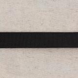 Élastique cotelé 20mm noir