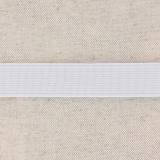 Élastique cotelé 20mm blanc