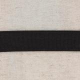 Élastique cotelé 25mm noir