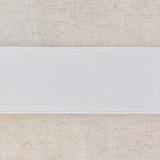 Élastique cotelé 40mm blanc