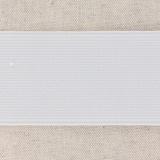Élastique cotelé 50mm blanc